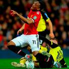 Tom Naylor of Burton Albion fouls Anthony Martial of Manchester United. Photo by Richard Heathcote/Getty Images