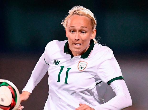 Republic of Ireland's Stephanie Roche. Photo by Stephen McCarthy/Sportsfile