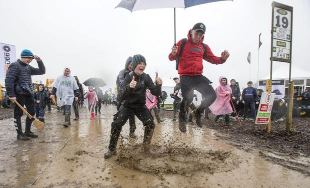 Having fun at the 2017 National Ploughing Championships in Screggan, Tullamore, Co Offaly. Pic:Mark Condren 20.9.2017