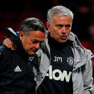 Manchester United manager Jose Mourinho and coach Ricardo Formosinho after the match