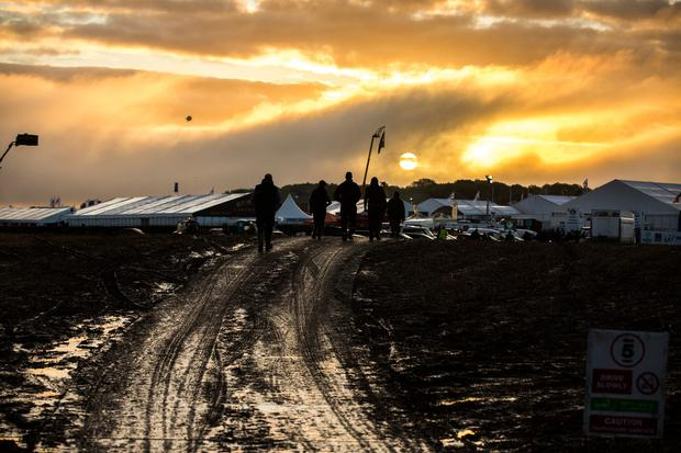 Making their way to the final day of the 2017 National Ploughing Championships in Screggan, Tullamore, Co Offaly. Pic:Mark Condren 21.9.2017