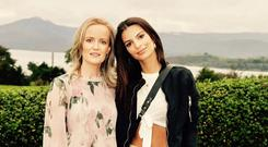 Emily Ratajkowski pictured at Cork ARC Cancer Support House in Bantry with Catriona O'Mahony, Community Cancer Support Co-ordinator