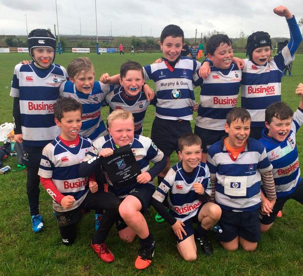 The U-10s side after a tournament win last season