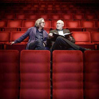 Music and puppets: Bolger (left) and McLaren will use a myriad styles in their staging of Ulysses. Picture: Arthur Carron