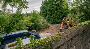 The scene of the search for missing Trevor Deely in Chapelizod, Dublin. Picture: Kyran O'Brien