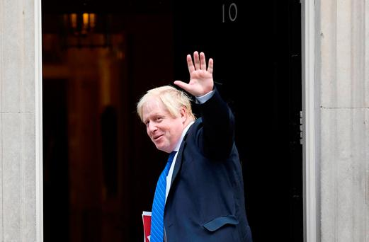 Boris Johnson, Britain's foreign secretary, arriving for a cabinet meeting at 10 Downing Street yesterday. Photo: Reuters