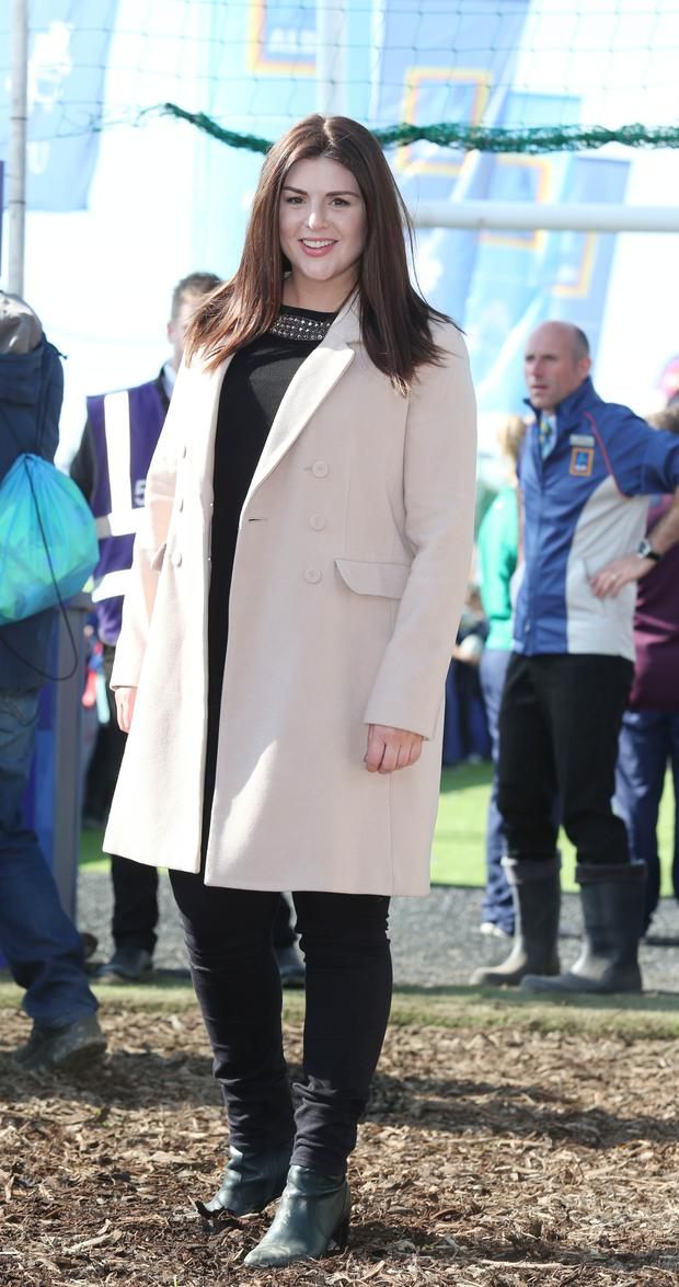 Sile Seoige, pictured after giving birth 7 weeks ago is photographed at the Aldi Marquee at the National Ploughing Championships in Screggan, Tullamore, Co Offaly. Photo: Leon Farrell/Photocall Ireland.