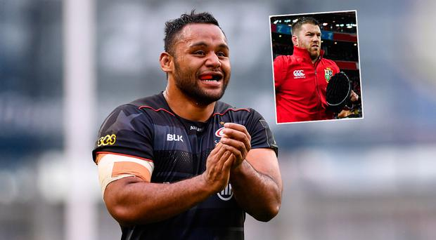 Billy Vunipola has backed Sean O'Brien (inset)