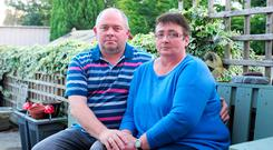David and Valarie Hall at their home in Tullamore, Co Offaly