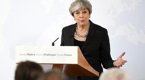 Prime Minister Theresa May delivers a speech in Florence, Italy, where she set out her plans for a transitional period from the formal date of Brexit in March 2019, expected to last two years, before moving to a permanent trade deal.