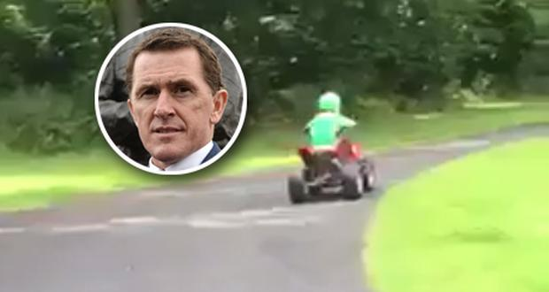 Archie has inherited his dad's need for speed