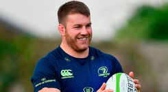 Leinster's Sean O'Brien during squad training. Photo by Ramsey Cardy/Sportsfile