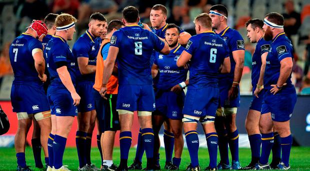 Leinster players during the Guinness PRO14 Round 4 match between Cheetahs and Leinster at Toyota Stadium in Bloemfontein. Photo by Johan Pretorius/Sportsfile