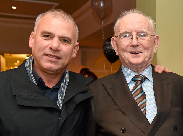 Jimmy Magee with Tony Ward. Picture credit: Ray McManus / Sportsfile
