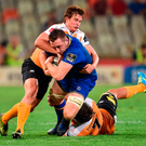 Leinster flanker Jack Conan is tackled by William Small-Smith of the Cheetahs during last night's Guinness PRO14 clash in Bloemfontein. Photo by Johan Pretorius/Sportsfile