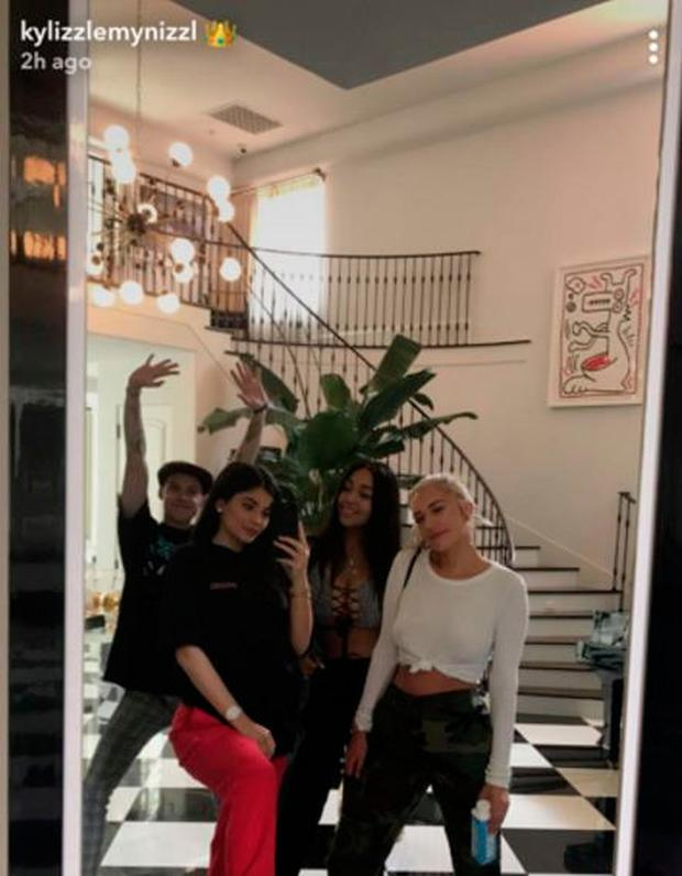Kylie Jenner posted this picture wearing a baggy t-shirt