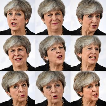 Theresa May speaks at the Complesso Santa Maria Novella, Florence, Italy. Picture: Reuters