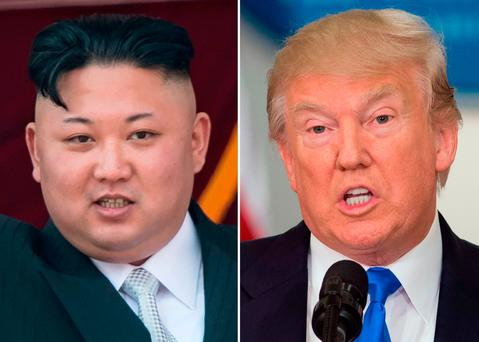 North Korea leader Kim Jong-un and US President Donald Trump. Photo: Getty Images