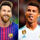 (L-R) Barcelona's Argentinian forward Lionel Messi, Juventus andPortuguese forward Cristiano Ronaldo and Paris Saint-Germain's Brazilian striker Neymar Photos: AFP/Getty