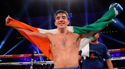 22 September 2017; Michael Conlan after defeating Kenny Guzman in their featherweight bout at the Convention Center in Tucson, Arizona. Photo by Mikey Williams/Top Rank/Sportsfile