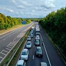 Handout photo taken with permission from the Twitter feed of Jonathon Marks of traffic at standstill on the M3 motorway after emergency services shut a section of the motorway, causing travel misery for thousands of motorists.Jonathon Marks/Twitter/PA Wire