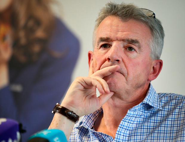 Ryanair's CEO Michael O'Leary pictured during a press conference where he addressed the recent Ryanair flight cancellations at Ryanair's HQ in Dublin. Photo: Frank McGrath