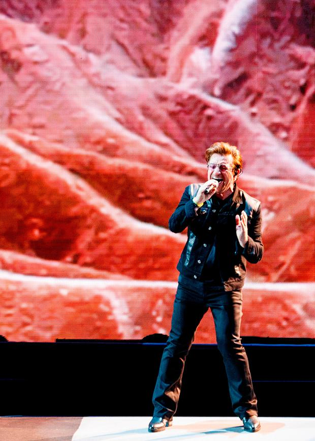REFLECTION: Bono had a significant moment which made him realise he wasn't going to live forever. Picture: Getty