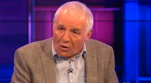 Total wind-up: Footballer turned pundit Eamon Dunphy holding forth on 'The Tonight Show' last week