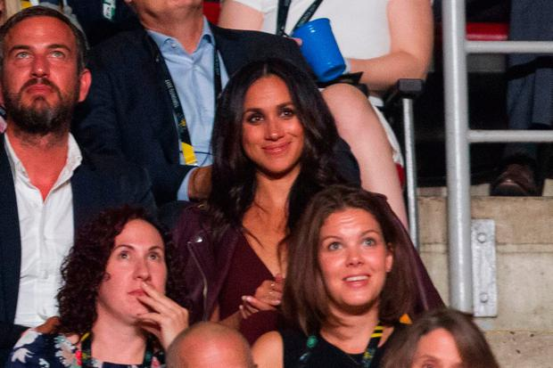 Meghan Markle, said to be Prince Harry's girlfriend, watches the opening ceremonies of the Invictus Games in Toronto, Ontario, September 23, 2017