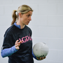 Cora Staunton of Mayo gives a skills workshop during the Gaelic4Teens Activity Day at Croke Park in Dublin. Photo by Sam Barnes/Sportsfile