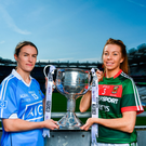 19 September 2017; Dublin's Sinead Aherne and Mayo's Sarah Tierney. Photo by Ramsey Cardy/Sportsfile