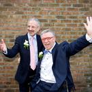 Michael Murphy and Terry O'Sullivan who got married at the Registar of Civil marriages and Civil partnership in 2011. Picture: Mark Condren