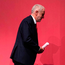 Labour leader Jeremy Corbyn arrives on stage in Brighton during his party's annual conference. Photo: PA Wire