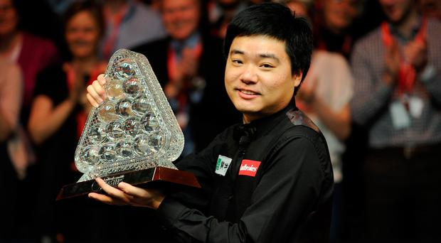 "Ding: ""The home crowd always supports me in the same way as it does with Ronnie O'Sullivan in the UK,"". Photo credit: Andrew Matthews/PA Wire"