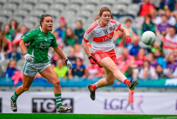 Annie Crozier in action for Derry. Photo: Cody Glenn/Sportsfile