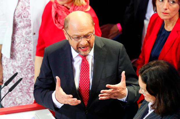 Social Democratic Party SPD leader Martin Schulz. Photo: Reuters