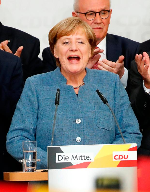 Angela Merkel (pictured) and Martin Schulz both fared worse than they hoped. Photo: Reuters