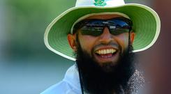Leinster rubbed shoulders with South African cricketing star Hashim Amla who shared the same hotel in Bloemfontein. Photo by Kieran Galvin/NurPhoto via Getty Images