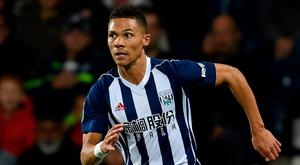 Kieran Gibbs returns to the Emirates tonight in the colours of West Brom. Photo by Ross Kinnaird/Getty Images