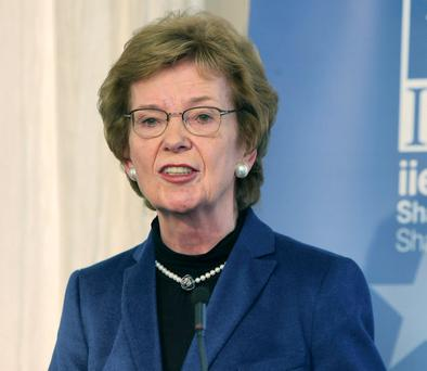 Mrs Robinson, who was UN high commissioner for human rights from 1997 to 2002. Photo: Damien Eagers
