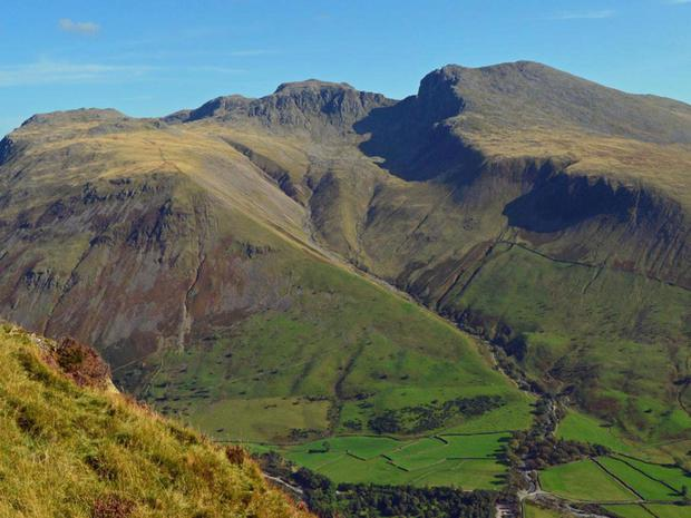 The Scafell mountain range in the Lake District Doug Sim/Wikimedia Commons