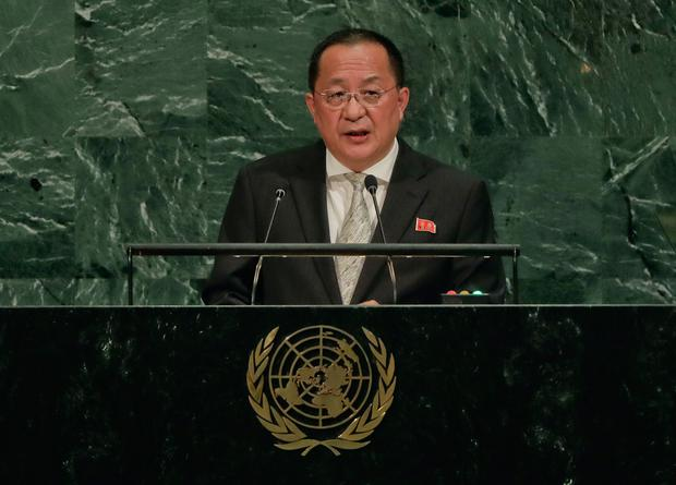 North Korea Minister for Foreign Affairs Ri Yong Ho (AP Photo/Julie Jacobson)