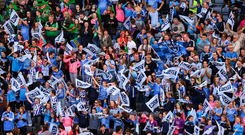 24 September 2017; Supporters during the TG4 Ladies Football All-Ireland Senior Championship Final match between Dublin and Mayo at Croke Park in Dublin. Photo by Stephen McCarthy/Sportsfile