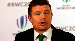 Ireland's bid ambassador Brian O'Driscoll makes his pitch in London yesterday Photo: Paul Childs/Reuters