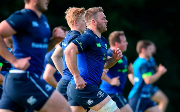 Sean O'Brien pictured during Leinster squad training at UCD, Belfield, in Dublin. Photo: David Fitzgerald/Sportsfile