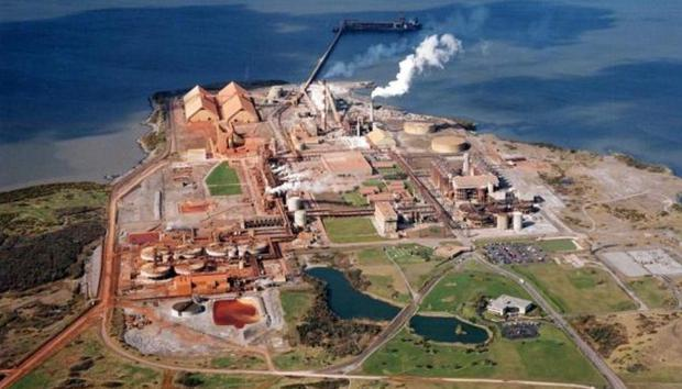Aughinish Alumina refinery on the Shannon estuary which recorded pre-tax losses of $40.5m last year.
