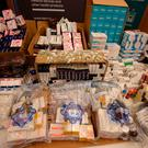 Seized packets of illegal medicines on display at the Health Products Regulatory Authority Headquarters in Dublin