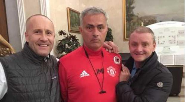 These Liverpool fans caught out the Manchester United boss