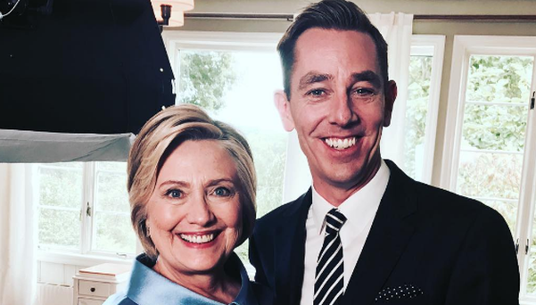 Ryan Tubridy travelled to New York to interview Hillary Clinton for this week's The Late Late Show.