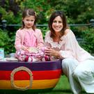 TV presenter Lucy Kennedy with daughter Holly at Fire Restaurant in Dublin for the launch of Cheerios Childline Breakfast 2017. Photo: Leon Farrell